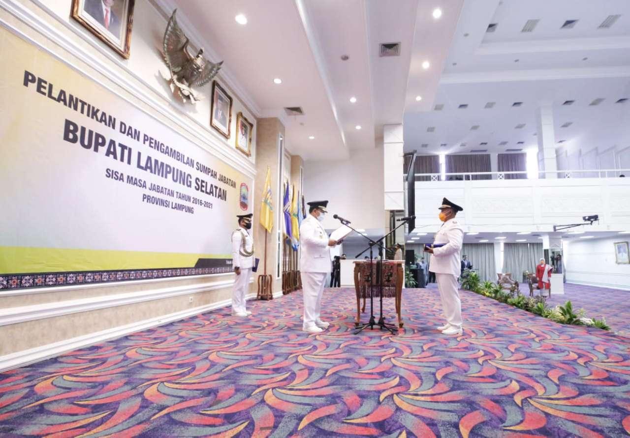 Gubernur Arinal Melantik Bupati Lampung Selatan Sisa Masa ...