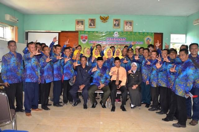 Kontingen Penas KTNA XV Kabupaten Mesuji Dilepas Plh Bupati Mesuji