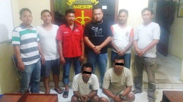 Dua Penyalahguna Narkotika Jenis Sabu meringkuk di Mapolsek Punggur