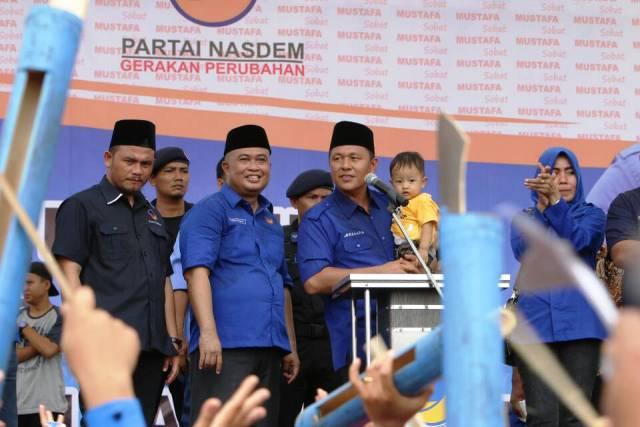Kentongan Iringi Pelantikan Ketua DPD NasDem Lamsel