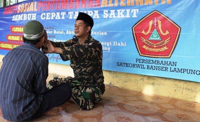 Banser Lampung Bantu Masyarakat Sehat Dengan ATS