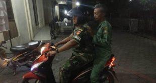 Piket Koramil 04/ Jebres Melaksanakan Patroli Bersama Linmas Di Wilayah Jebres