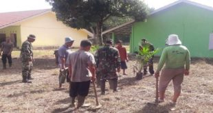 Koramil 402-04/Tanjung Raja Gelar Karya Bhakti di Ponpes Modern Sriwijaya