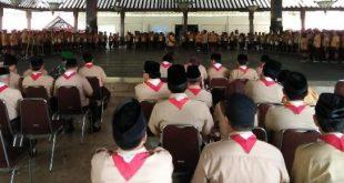Danramil 04/Jebres Hadiri Upacara Pembukaan Pesta Siaga Kwaran Pramuka Kecamatan Jebres Tahun 2019
