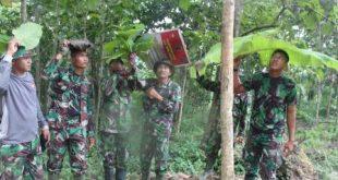 Sering Bergulat Dengan Hujan Saat Kerjakan Proyek TMMD