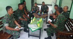 Koramil 02 Kodim 0735/Surakarta Dikunjungi Paban Sahli Politik Luar Negeri Bid Idpol Sahli Kasad
