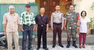BABINSA Kel Joyotakan KORAMIL 03/Serengan Melaksanakan PAM di GEREJA (GKI)