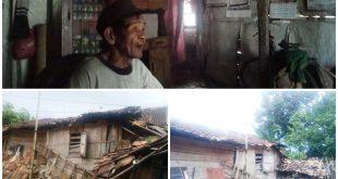 Warga Abung Timur  Tinggal Di Rumah Nyaris Ambruk