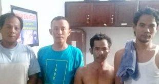 Tekab 308 Polres Lampung Utara Amankan Empat Buruh Sedang Asik Berjudi