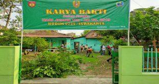 Maknai Hari Juang TNI AD, Koramil 03/Serengan Gelar Karya Bakti dan Bakti Sosial