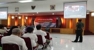 Kasdim Solo Beri Materi Sosialisasi Rencana Aksi Daerah Dalam Penanganan Konflik Sosial
