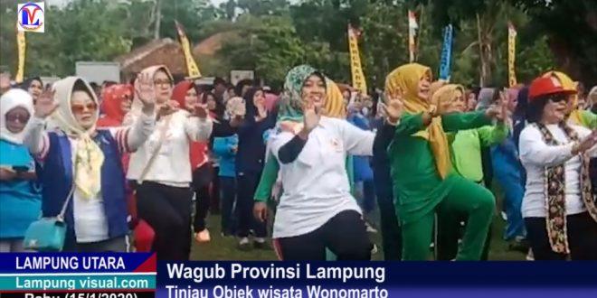 Wagub Provinsi Lampung Tinjau Objek wisata Wonomarto