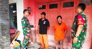 Danramil 03/Serengan Melaksanakan Komsos Di Mako Sar Crest Kelurahan Joyotakan