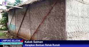 Kakek Salman (65) Harapkan Bantuan Rehab Rumah