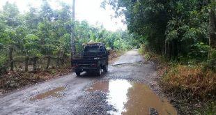 Jalan di Kabupaten Pali Penghubung Antar Desa Rusak Parah