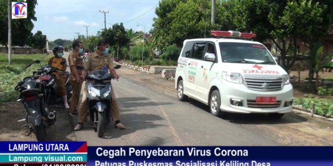 Cegah Penyebaran Virus Corona Petugas Puskesmas Sosialisasi Keliling Desa