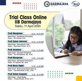 Kenalkan Perkuliahan, IIB Darmajaya Siapkan Trial Class Online Pelajar SMA/K
