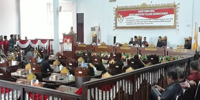 DPRD Tubaba Menyetujui Pinjaman Pemkab Tahun Anggaran 2018