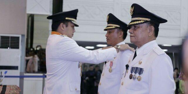 Gubernur Lampung M.Ridho Ficardo Lantik Bupati dan Wakil Bupati Lampung Bara