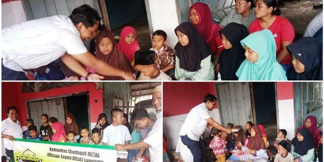 METAL Makan Bersama  Anak Yatim Di Lampung Selatan